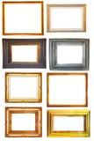 Set des Weinlesefoto-Holzfeldes Stockfotografie