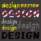 Set of design artworks Royalty Free Stock Photo