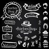 Set of design  Barbershop hipster hairdresser elements Vector ch Royalty Free Stock Image