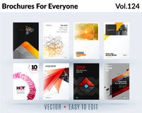 Set of design of brochure, abstract annual report, cover modern layout, flyer vector illustration
