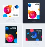 Set of Design of brochure soft template cover. Colourful modern abstract, annual report with shapes for branding. Set of Design of brochure smooth soft template vector illustration