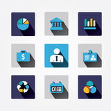 Set design business concept icons and apps Stock Images