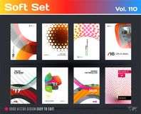 Set of design of business vector template, brochure, abstract annual report, cover. Design of business vector template, brochure, abstract annual report, cover Stock Photography