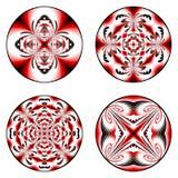 A set of design circle elements. Royalty Free Stock Photos