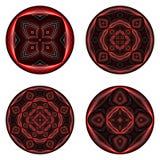 A set of design circle elements Stock Photos