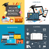 Set of design for education Royalty Free Stock Images