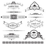Set of design element Royalty Free Stock Images
