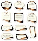 Set of design elements stock illustration