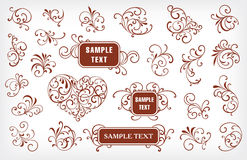 Set of design elements. On a white background Royalty Free Stock Photography