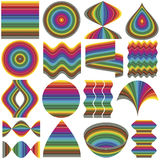 Set of design elements. Set of fancy inventive vector elements for business or decoration in full color range Royalty Free Stock Images