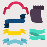 Set of design elements banners ribbons. Stock Photo
