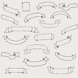 Set of design elements banners ribbons. Stock Images