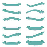 Set of design elements banners ribbons Stock Photos