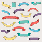 Set of design elements banners ribbons. Stock Photos