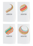 Set of design elements for business card template. Stock Images