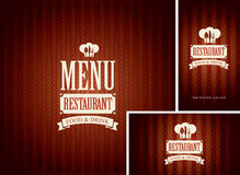 Set of design elements for a cafe or restaurant Royalty Free Stock Image