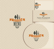 Set of design elements for a cafe or restaurant Stock Images