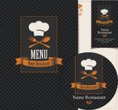 Set of design elements for a cafe or restaurant Stock Image