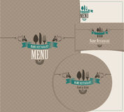 Set of design elements for a cafe or restaurant Royalty Free Stock Photos