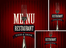 Set of design elements for a cafe or restaurant Royalty Free Stock Photography