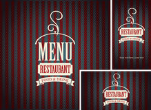 Set of design elements for a cafe or restaurant Royalty Free Stock Images