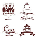 Set of design elements -- cakes Royalty Free Stock Images