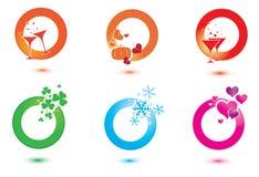Set of design elements for celebration Stock Photo