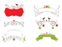 Set design elements for Christmas and New year Stock Photo