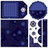Set of design elements - dark blue Royalty Free Stock Photos