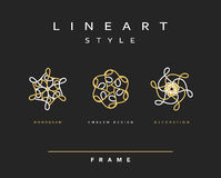 Set of design elements.  Elegant monogram design. Element decor. Emblem design Royalty Free Stock Photo