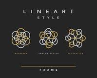 Set of design elements.  Elegant monogram design. Royalty Free Stock Image