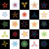 Set of design elements, flowers. Vector illustration Stock Photos