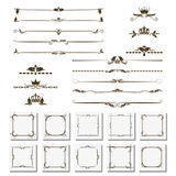 Set of design elements, frames, dividers, borders. Vector illustration for design of pages. Stock Photo
