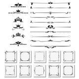 Set of design elements, frames, dividers, borders. Vector illustration for design of pages. A set of design elements, frames, dividers, borders. Vector Stock Photos