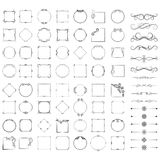 Set of design elements, frames, dividers, borders. Vector illustration for design of pages. A set of design elements, frames, dividers, borders. Vector Royalty Free Stock Images