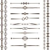 Set of design elements, frames, dividers, borders. Vector illustration for design of pages. A set of design elements, frames, dividers, borders. Vector Stock Photography
