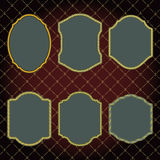 Set of design elements-golden vintage frames. Stock Images