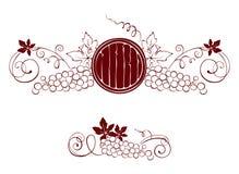 Set design elements -- grape and barrel royalty free illustration
