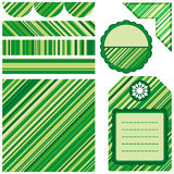 Set of design elements - green. Royalty Free Stock Images