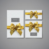 Set of design elements for holiday package design. Festive gift card, flyer and brochure design template. Set of elements for holiday package or invitation Royalty Free Stock Photo