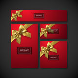 Set of design elements for holiday package design. Festive gift cards, flyers and banners design template. Set of design elements for holiday package design Royalty Free Stock Image
