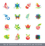Set of  Design Elements and Icons. Royalty Free Stock Photo