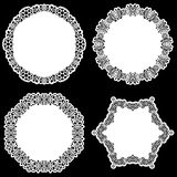 Set of design elements, lace round paper doily, doily to decorate the cake Royalty Free Stock Image