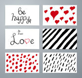 Set of design elements love. Hand drawn Royalty Free Stock Photos