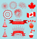 Set design elements for the national day of Canada. Set design elements for celebrate the national day of Canada Stock Photos