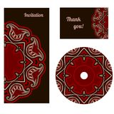 Set of design elements in oriental style. Royalty Free Stock Image
