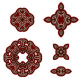 Set of design elements in oriental style. Royalty Free Stock Photo
