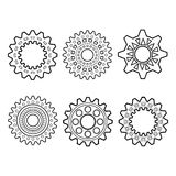 Set of Design Elements, Patterned Circles Stock Image