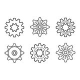 Set of Design Elements, Patterned Circles Royalty Free Stock Image