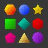 Set of design elements. Polygonal geometric shapes Stock Photo
